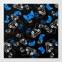 Video Game Blue on Black by ts55