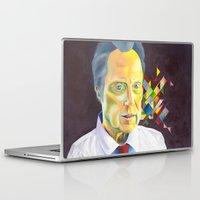 christopher walken Laptop & iPad Skins featuring Technicolor Walken by Jolene Rose Russell