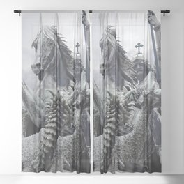 The Slaying Of The Dragon Sheer Curtain