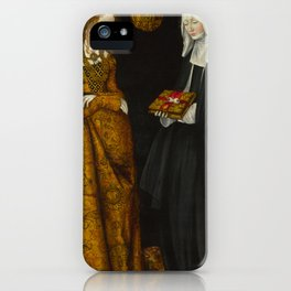 "Lucas Cranach the Elder ""Saints Christina and Ottilia"" iPhone Case"