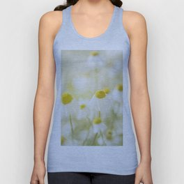 Floral Spring Meadow with Flowers Camomile and Daisies Unisex Tank Top