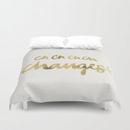 Bowie – Gold Ink Duvet Cover