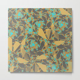 Blowing Leaves Abstract Metal Print