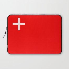 Schwyz region switzerland country flag swiss Laptop Sleeve