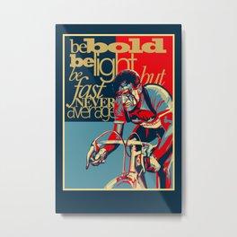 Retro Cycling Print Poster Hard as Nails  Metal Print