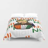 niall horan Duvet Covers featuring Cupcake Niall by Babi