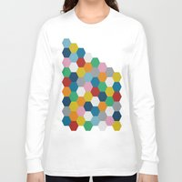 honeycomb Long Sleeve T-shirts featuring Honeycomb 2 by Project M
