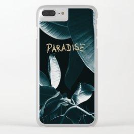 Ficus Elastica PARADISE #1 #decor #art #society6 Clear iPhone Case