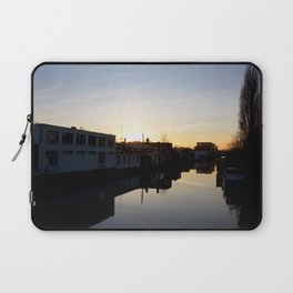 Sunset over an Amsterdam canal Laptop Sleeve