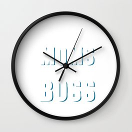 Dads Are Tough But Moms Are Boss Mothers T-Shirt Wall Clock