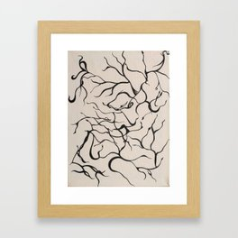 Nymph in the wind Framed Art Print
