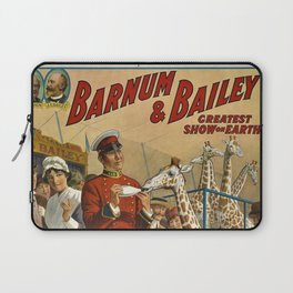 19th Century Barnum & Bailey Circus The only baby giraffe in America Vintage Poster Laptop Sleeve