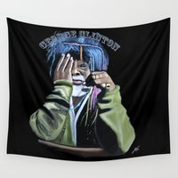 jazz Wall Tapestries featuring JAZZ by ink0023