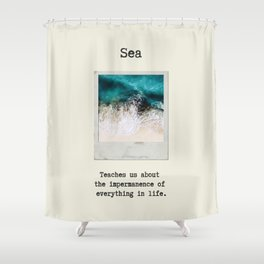 Small Emotional Dictionary: Sea Shower Curtain