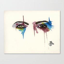 David Bowie Eyes Canvas Print