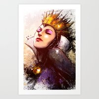 evil queen Art Prints featuring Evil Queen by Vincent Vernacatola