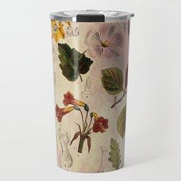 Botanical Study #1, Vintage Botanical Illustration Collage Travel Mug