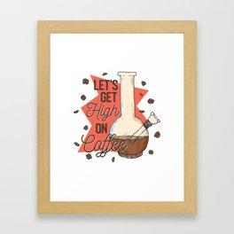 High on coffee Framed Art Print