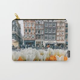 Houses and tulips Carry-All Pouch