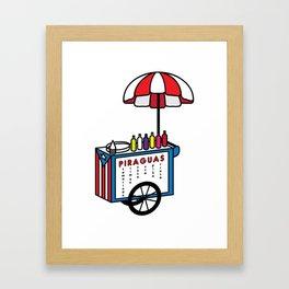 Piragua Cart Framed Art Print