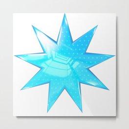 Blue Star Metal Print