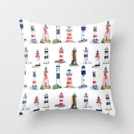 Swedish lighthouses Throw Pillow