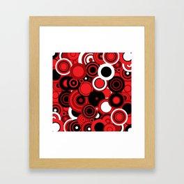 circles-red-black-white Framed Art Print