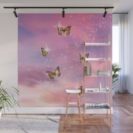 Pink Butterfly Dream Wall Mural