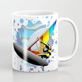 Windsurfer on Ocean Waves Coffee Mug