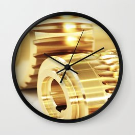 Wormwheels close up view Wall Clock