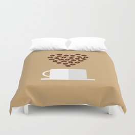 For the Love of Coffee Duvet Cover