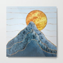 Sunset in the Volcanic Mountains Metal Print