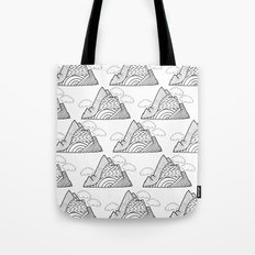 The small clouds and the mountains pattern Tote Bag