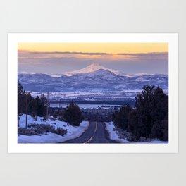 Pacific Northwest Sunset Over Cascades Art Print