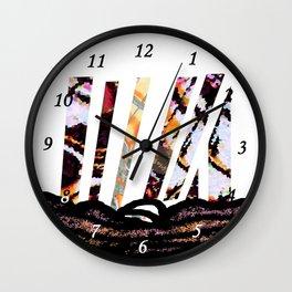 Land Lines Wall Clock