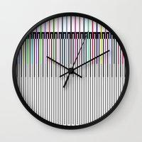 sound Wall Clocks featuring Sound by Georgiana Paraschiv