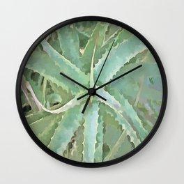 Amazing Aloe Vera Wall Clock