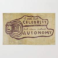 celebrity Area & Throw Rugs featuring Celebrity & Autonomy by Josh LaFayette