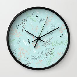 Light And Lovely Spring Floral Garden Pattern Wall Clock
