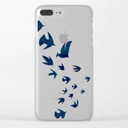 Blue Mountains Bird Flight Clear iPhone Case