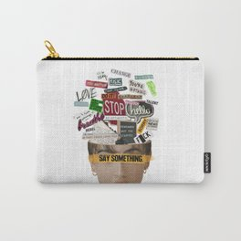 Say Something Carry-All Pouch