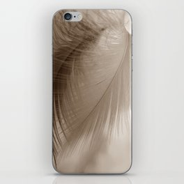 The feather hovers over the clouds iPhone Skin