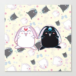Black & White Mokona Canvas Print