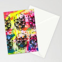 Ultraviolence 4i skull - mixed media on canvas Stationery Cards