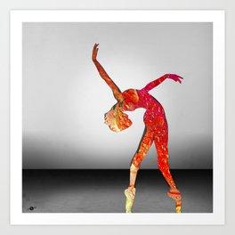 Move Dance Dance Class Dancer Ballet Gymnast Gymnastics Art Print