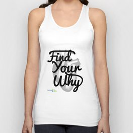 Find Your Why - Black Text Unisex Tank Top