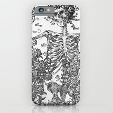 SKELETON AND ROSE BUSHES Slim Case iPhone 6s