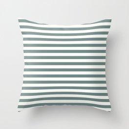 Blue Green Stripes Throw Pillow