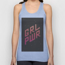 GRL PWR: Girl Power! Dark background Unisex Tank Top