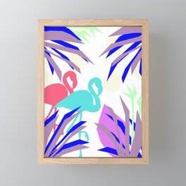 Flamingo Jungle Blues Framed Mini Art Print